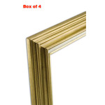 Accent Wood Frame Box of 4 Antique Gold 16X20