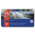 Caran D'ache Neocolor II Crayons Tin Case Set of 84 - Assorted Colors