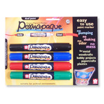 """Permapaque Art Markers Dual-Point Set """"A"""" of 4 - Assorted Colors"""