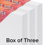 "The Edge All Media Cotton Canvas 1-1/2"" Box of Three 4x4"""