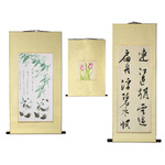 Golden Panda Eastern Artist Scrolls