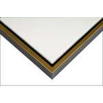 "Illusions Floater Frame for 3/4"" Canvas 16x20"" - Black/Gold"