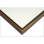 "Illusions Floater Frame for 3/4"" Canvas 18x24"" - Walnut/Gold"