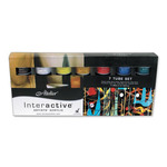 Interactive Professional Artists' Acrylic Set of 12 20 ml Tubes - Assorted Colors