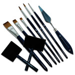 Wyland Ecological Acrylic Brushes And Palette Knives