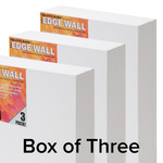 "The Edge WALL All Media Cotton Canvas 3"" Box of Three 12x16"""