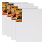 "Odessa Professional Russian-Style Stretched Linen Canvas Medium Heavy Body - Acrylic Primed 30x40"" Box of 4"