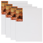 "Odessa Professional Russian-Style Stretched Linen Canvas Large Extra Bold - Acrylic Primed 24x36"" Box of 4"