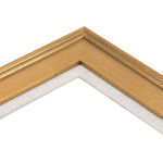 Plein Aire Gold Frame with Linen Liner 12 x 36""
