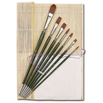 Silver Brush Ruby Satin Synthetic Brush Master Set