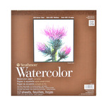 "Strathmore 400 Series Watercolor Pad (Tape Bound) 12x12"" -12 Sheets"