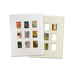 "Viewpoint Artist Trading Card Collage Double Mat (Individual) 16x20"" - White/White"