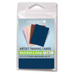 Crescent Mixed-Media / Collage Artist Trading Cards 10-Pack - Greys