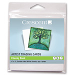 "Crescent Artist Trading Cards Chunky Book 4×4"" - White"