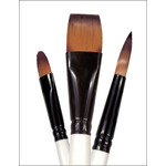 Simply Simmons Watercolor Brush White Goat Oval 1""
