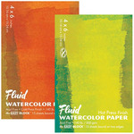 Fluid Watercolor Paper Easy Block - 140 lb. Cold Press 4x6""