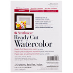 "Strathmore Ready Cut Watercolor Paper 140 lb Hot Pressed 5x7"" Pack of 25"