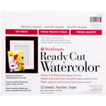 "Strathmore Ready Cut Watercolor Paper 140 lb Hot Pressed 8x10"" Pack of 10"