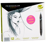 Prismacolor Double-Ended Brush Tip Markers Set of 12 - Cool Greys