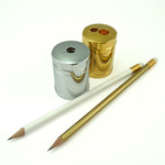 KUM Luxury Artists' Pencil Sharpeners - Gold and Chrome Plated
