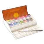 Sennelier l'Aquarelle French Artists' Watercolor Travel Set of 14 Half Pans