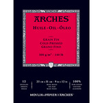 Arches Oil Paper 140 lb. 12 Sheet Tape-Bound Pad 9x12""