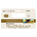 Strathmore Mixed Media Greeting Cards + Envelopes Pack of 10 3.7x8.5""