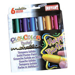 PlayColor Solid Poster Paint Crayons Set of 6 Pocket - Metallic Colors
