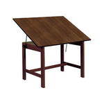 "ALVIN Drafting Table Titan Table 36x48x30"" - Walnut Finish"