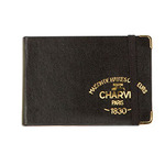 "Charvin Leather Sketch Book w. Elastic Band 2.75x4.25"" - Black"