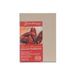 "Jack Richeson Hardboard Panels 1/8"" Toned Gessoboard Canvas Panels 4x4"" - Umber"