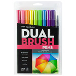 Tombow Dual Brush Pens Set of 10 - Bright Palette Colors