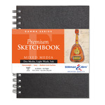 "Stillman and Birn Premium Mixed Media Sketchbooks Gamma Series, 50 sheets 9x12"" - Wirebound"