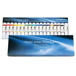 Turner Concentrated Artists' Watercolors- Professional Set Set of 18 5 ml Tubes - Assorted Colors