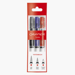 Caran d'Ache Museum Aquarelle Waterbrushes - Fine, medium & large nibs