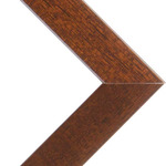 "Denver .75  Wood Frame with acrylic glazing and cardboard backing 24x36"" - Walnut"