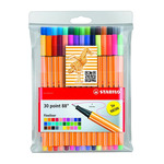 Stabilo Point 88 Fineliner Pen Wallet Set of 30