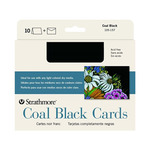 "Pack of 10 5x6.875"" Coal Black Cards with Envelopes"