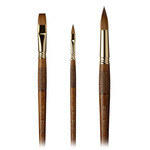 Escoda Grafilo Kolinsky Tajmyr Sable Long Handle Brushes