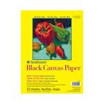 "Strathmore 300 Series Black Canvas Pad 9 x 12"""