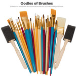 Oodles of Brushes Economical Art Brush Set of 25 - Art, Craft, Hobby and Home