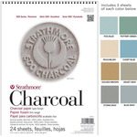 "Strathmore 500 Series Charcoal Paper 24 Sheet Pads 18x24"" - Assorted"