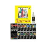 SoHo Urban Artist Watercolor Set of 24 with Strathmore 300 Watercolor Pad and Spray Bottle