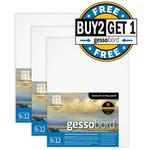 Buy 2 Get 1 Gessobord Panel 1/8in (Deep) Flat 9X12 Bundle