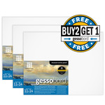Buy 2 Get 1 Gessobord Panel 1/8in (Deep) Flat 11X14 Bundle