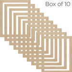 Ambiance Unfinished Wood Gallery Frame - Box of 10 12x16 In