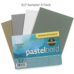 "Ampersand Museum Series Pastelbord Four Pack 5x7"" - 4 Color Sampler"
