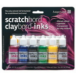 Ampersand Stratchbord Claybord Ink Set of 6