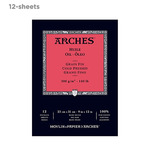 """Arches Oil Paper 140 lb. 12 Sheet Tape-Bound Pad 9x12"""""""