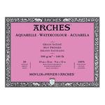 "Arches 140 lb. Hot Press Block 9x12"" - Natural White"